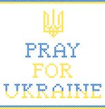 Pray for Ukraine Royalty Free Stock Photo