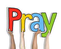Pray Word Concepts Isolated on Background Stock Photography