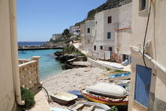 Praya pozzo in Levanzo Stock Photo