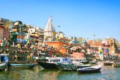 Prayag ghat on the sacred River Ganges Stock Photography