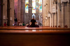 The Prayer. The Cathedral of the Sacred Heart of Jesus also known as Sacred Heart Cathedral is a Roman Catholic cathedral in Canton, South China. It is the seat Stock Photos
