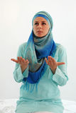Prayer. A young Muslim woman praying Stock Photo
