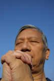 Prayer. Man praying Stock Photography