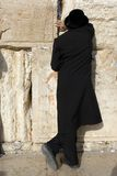 Prayer. A religious orthodox Jew prays at the Wailing Wall. Jerusalem, Israel Stock Photography