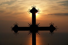 Prayer. Evening prayer at Holy Mount Athos, Greece stock photo