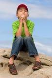 Prayer. A child in prayer Royalty Free Stock Photography