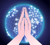 Prayer across the world Royalty Free Stock Photography