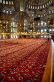 The prayer area in Sultan Ahmed Mosque  (Blue Mosque), Istanbul. Royalty Free Stock Photography