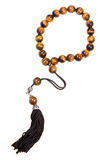 Prayer bead isolated on white Royalty Free Stock Photography