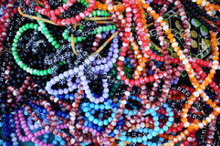Prayer-beads. Colorful prayer beads as a background Stock Image