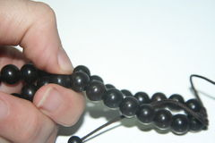 Prayer beads. Buddhist prayer beads stock image