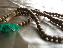 Prayer Beads. Tradition, wooden, prayer beads used by Muslims stock photos