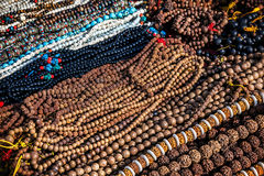 Prayer beads at Kathmandu market Stock Photos