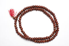 Prayer beads made of Sandalwood Stock Photos