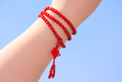 Prayer Beads Set On The Wrist Royalty Free Stock Image