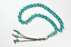 Prayer beads. On a white background Royalty Free Stock Images