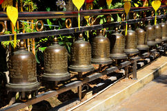 Prayer Bell wheels Stock Photo