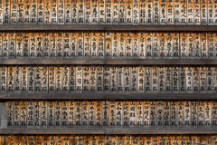 Prayer Board in Tokyo Zojo-Ji temple Royalty Free Stock Image