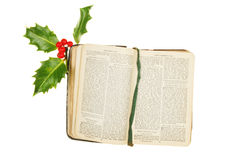 Prayer Book And Holly Stock Photo