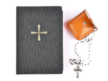 Prayer book with chaplet Royalty Free Stock Photography