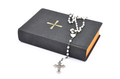 Prayer book with chaplet Royalty Free Stock Photos