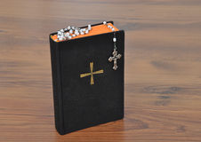 Prayer book with chaplet Stock Images