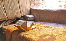 Prayer book in Lalibela Royalty Free Stock Images