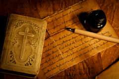 Prayer Book With Old Letter Stock Photography