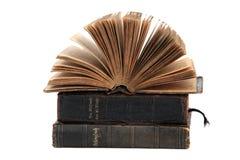 Prayer books. Stack of prayer books on white Royalty Free Stock Image