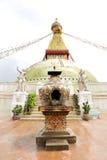 Prayer candle place in Swayambhunath Stupa Royalty Free Stock Images