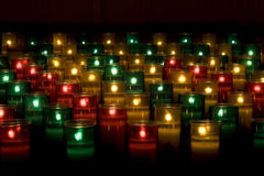 Prayer Candles Stock Images