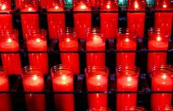 Prayer Candles Basilica Monestir Monastery of Montserrat stock images