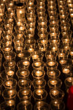 Prayer Candles. In a catholic church Royalty Free Stock Photography