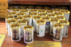 Prayer Candles Stock Photo