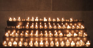 Prayer Candles In Church Royalty Free Stock Image