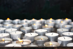 Prayer candles in church Royalty Free Stock Photo