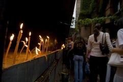 Prayer Candles at Church Royalty Free Stock Photos