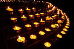 Prayer Candles at Church Stock Photo