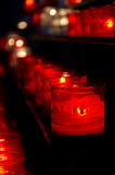 Prayer candles in church Stock Photography