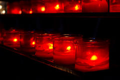 Prayer candles in church Stock Images