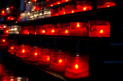 Prayer candles in church Royalty Free Stock Photos