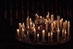 Prayer Candles. Close-Up picture of Candles in a church Royalty Free Stock Photos