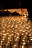 Prayer Candles. In day of a remembrance in the open air Royalty Free Stock Image