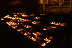 Prayer candles Stock Photos