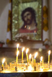 Prayer Candles in orthodoxy church Royalty Free Stock Image
