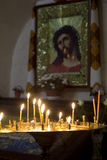 Prayer Candles in orthodoxy church Royalty Free Stock Images