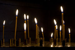 Prayer Candles in orthodoxy church. In Lviv Royalty Free Stock Image