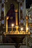 Prayer Candles in orthodoxy church. In Lviv Royalty Free Stock Photography