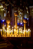Prayer Candles in orthodoxy church. In Lviv Stock Images