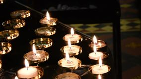 Prayer Candles stock video footage